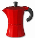 PERCOLATOR / KOFFIEPOTJE 1 PERS ROOD