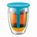 BODUM DUBBELWANDIG TEA FOR ONE BLAUW