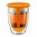 BODUM DUBBELWANDIG TEA FOR ONE ORANJE